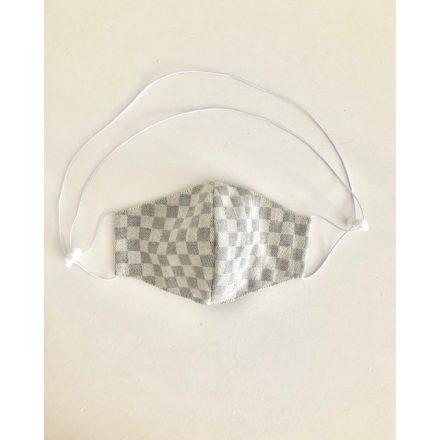 Nyakba akasztható maszk szürke-kockás