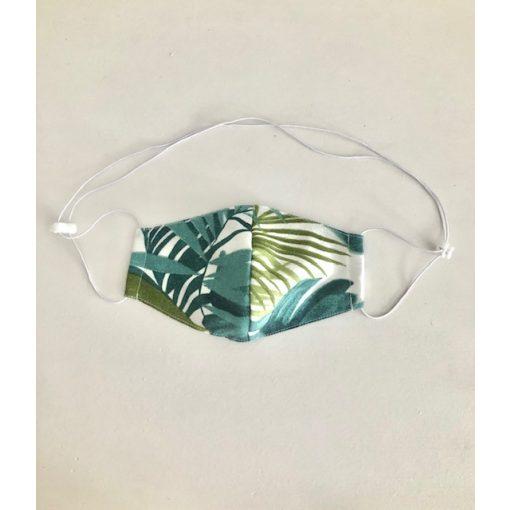 Nyakba akasztható maszk zöld pálmaleveles