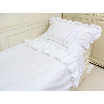 Fehér damaszt ágyneműgarnitúra
