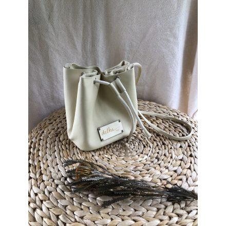 krém női táska