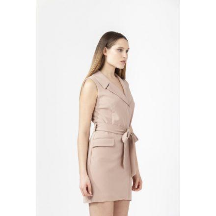 dream caramel blazer dress sleeveless