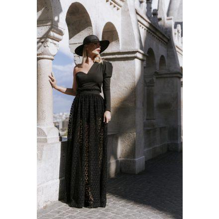 premium line black angel lace skirt