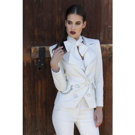 desire white vegan leather blazer