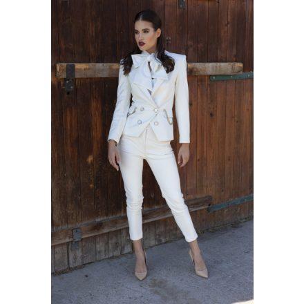 desire white vegan leather pants