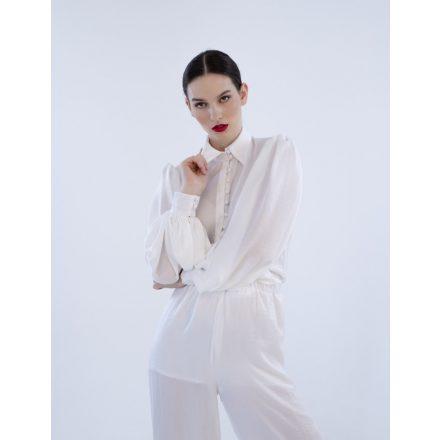 Paris white blouse