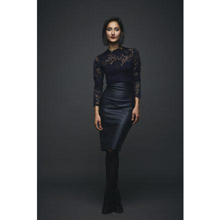 csipke-bőrhatású ruha