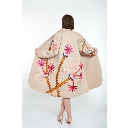 champagne palm tree coat