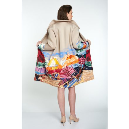 champagne painted coat