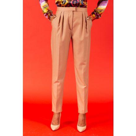 bronze wool trousers