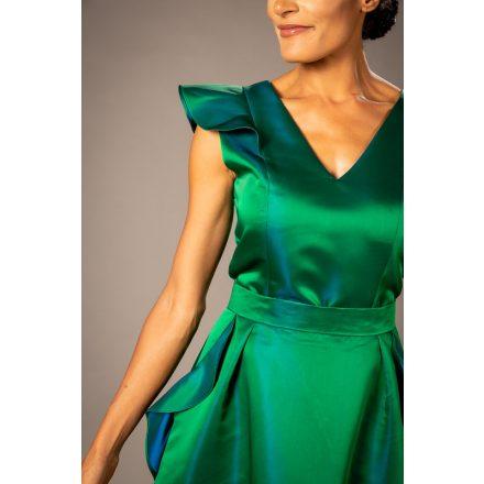 emerald green wavy sleeveless top