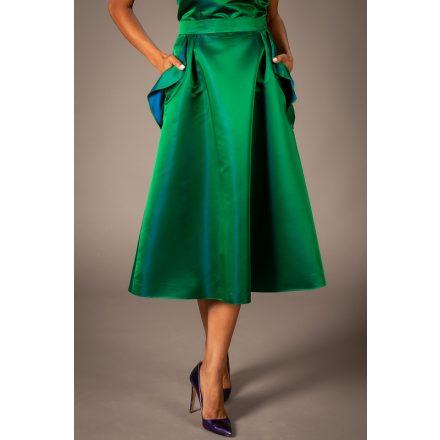 emerald green wavy skirt