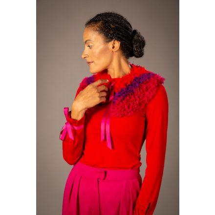 red-lila-pink handmade collars