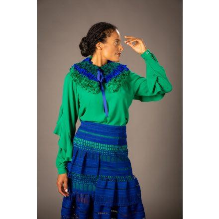 green-blue handmade collar