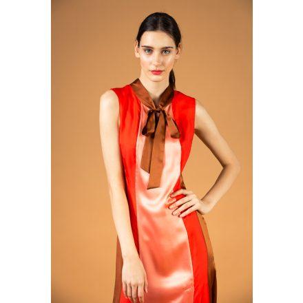 sellő selyem hosszú ruha
