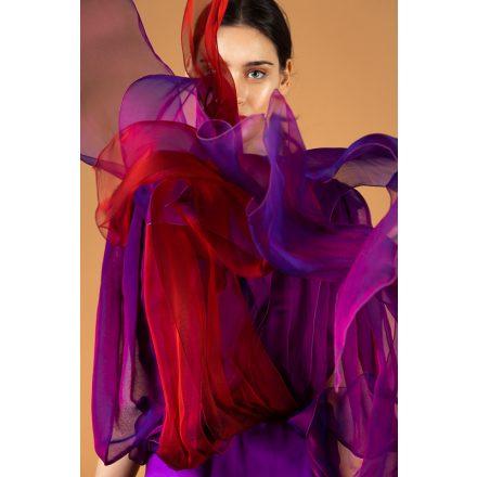 muszlin hosszú estélyi ruha