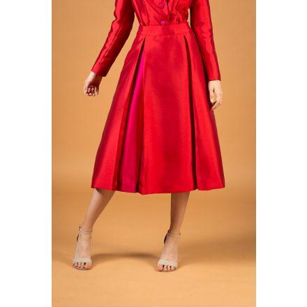 piros-pink fényes szoknya