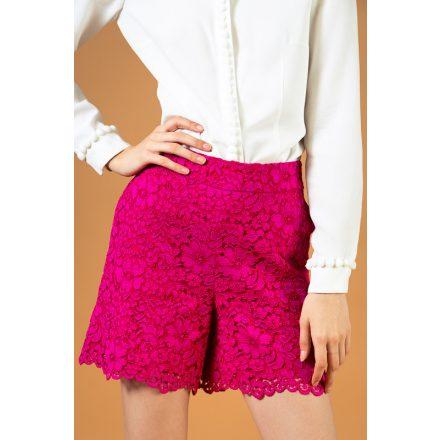 pink csipke rövidnadrág