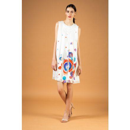 fehér festett szalagos ruha